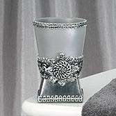 Стакан для зубной пасты Avanti Braided Medallion Silver