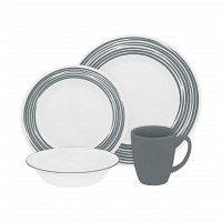 Набор посуды Corelle Brushed Silver 16пр