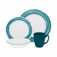 Набор посуды Corelle Brushed Turquoise 16пр