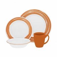 Набор посуды Corelle Brushed Orange 16пр