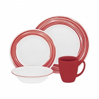 Набор посуды Corelle Brushed Red 16пр