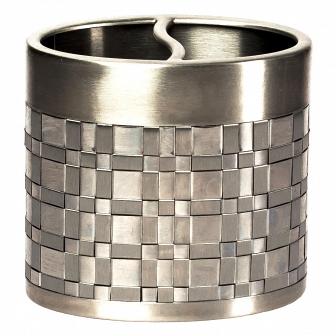 Стакан для зубных щеток Avanti Basketweave Silver 11284B