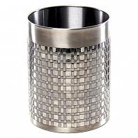 Корзина для мусора Avanti Basketweave Silver