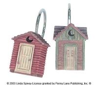 Набор из 12 крючков для шторки Avanti Outhouses