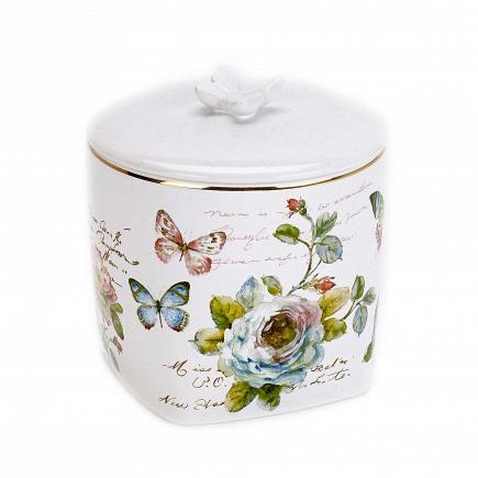 Косметическая емкость с крышкой Avanti Butterfly Garden 13882K
