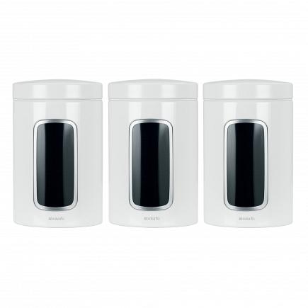 Набор контейнеров с окном 3пр. Brabantia Canister 1,4л 151224