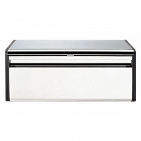 Хлебница Brabantia Bread Bin Brilliant Steel with Matt Black Sides