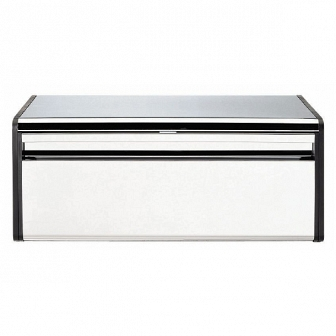 Хлебница Brabantia Bread Bin Brilliant Steel with Matt Black Sides 163463