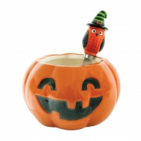 Глубокая чаша и нож Boston Warehouse Kitchen All Owl's Eve Pumpkin