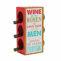 Держатель для бутылок Boston Warehouse Kitchen Red Wine Woman