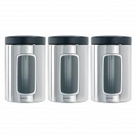 Набор контейнеров с окном 3пр. Brabantia Canister 1,4л