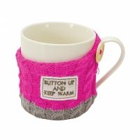 Кружка Boston Warehouse Kitchen Sweater mug Button up