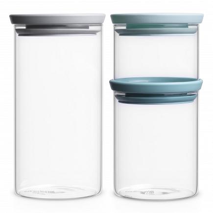 Набор модульных стеклянных банок Brabantia Canister 3пр. 298325