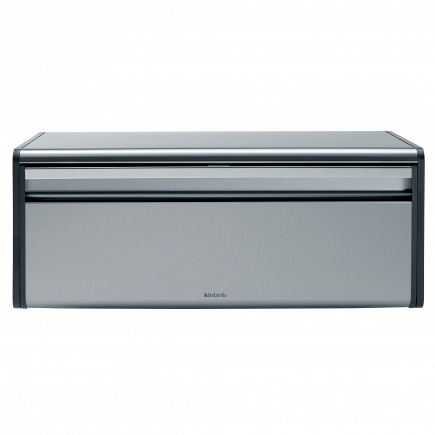 Хлебница Brabantia Bread Bin Matt Steel Fingerprint Proof with Black Sides 299186