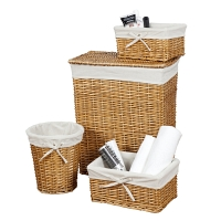 Набор корзин Creative Bath Storage Set 4 предмета Wickerworks Hamper Brown