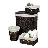 Набор корзин Creative Bath Storage Set 4 предмета Wickerworks Hamper Dark Brown