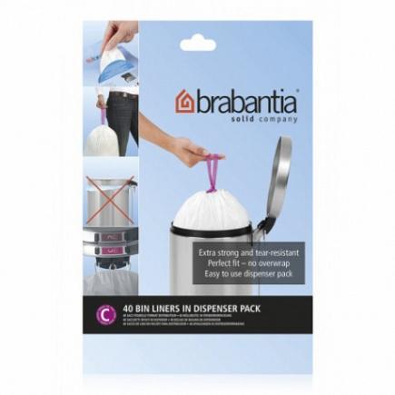 Пакет пластиковый Brabantia Bin Liners 10/12л 40шт 361982