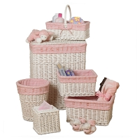 Набор корзин Creative Bath Baby's Learn & Store Collection 6 предметов White