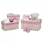 Набор корзин Creative Bath Baby's Learn & Store Collection 3 предмета White