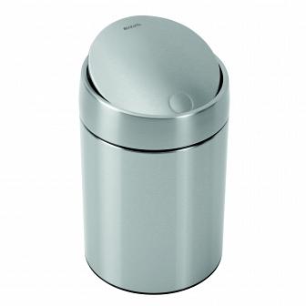 Ведро для мусора с крышкой Brabantia Slide Bin 5л 477546