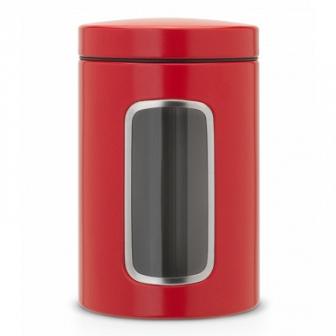 Контейнер для сыпучих продуктов с окном Brabantia Passion Red 1,4л 484063