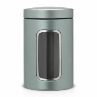 Контейнер для сыпучих продуктов с окном Brabantia Metallic Mint 1,4л