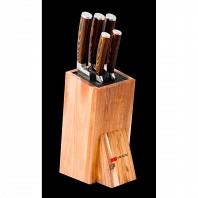 Набор ножей Mikadzo Damascus Suminagashi 5шт с подставкой