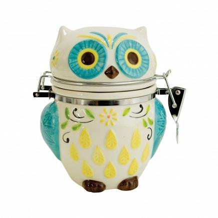 Банка для сыпучих продуктов Boston Warehouse Kitchen Floral Owl 61965