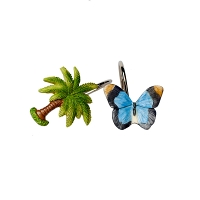 Набор из 12 крючков для шторки Croscill Living Butterfly Palm
