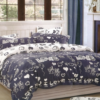 Love is КПБ сатин 7Е Sofi de Marko Bedding Sets 7Е-3274