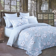 Одиссея (голубая) КПБ сатин 7Е Sofi de Marko Bedding Sets