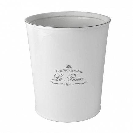 Корзина для мусора Kassatex Le Bain White ALB-WB-W