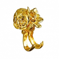 Крючок двойной Art&Max Rose Золото