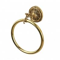 Полотенцедержатель кольцо Art&Max Barocco Золото