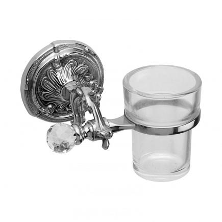 Стакан подвесной Art&Max Barocco Crystal Хром AM-1787-Cr-C