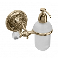 Дозатор для мыла подвесной Art&Max Barocco Crystal Бронза
