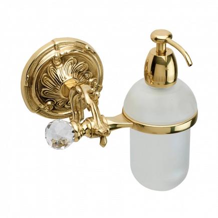 Дозатор для мыла подвесной Art&Max Barocco Crystal Античное золото AM-1788-Do-Ant-C