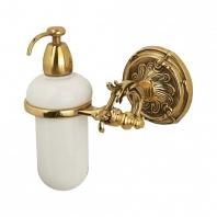 Дозатор для мыла подвесной Art&Max Barocco Античное золото