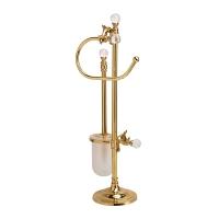 Стойка напольная для унитаза и биде Art&Max Barocco Crystal Золото