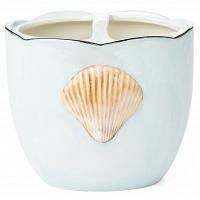 Стакан для зубных щеток Kassatex Mare Shells Seafoam