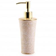 Дозатор для жидкого мыла Kassatex Bedminster Scroll Creme Brulee