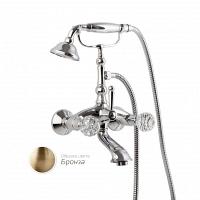 Смеситель для ванны Cezares Atlantis с ручным душем, ручки Swarovski