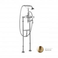 Напольный смеситель для ванны с ручным душем Cezares Atlantis с кронштейном для слива-перелива