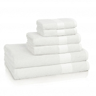 Полотенце для рук Kassatex Bamboo Bath Towels White
