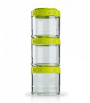 Контейнеры BlenderBottle GoStak 100мл (3 контейнера) зеленый BB-G100-GREE