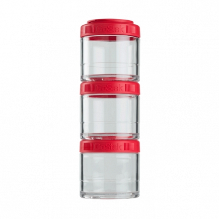 Контейнеры BlenderBottle GoStak 100мл (3 контейнера) красный BB-G100-REDD