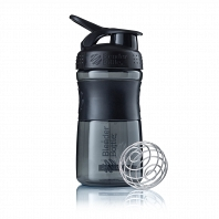 Шейкер BlenderBottle SportMixer 591мл Black/Black (черный/черный)