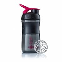 Шейкер BlenderBottle SportMixer 591мл Black/Pink (черный/малиновый)