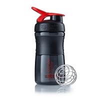 Шейкер BlenderBottle SportMixer 591мл Black/Red (черный/красный)