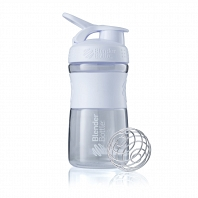 Шейкер BlenderBottle SportMixer 591мл Clear White (белый)
